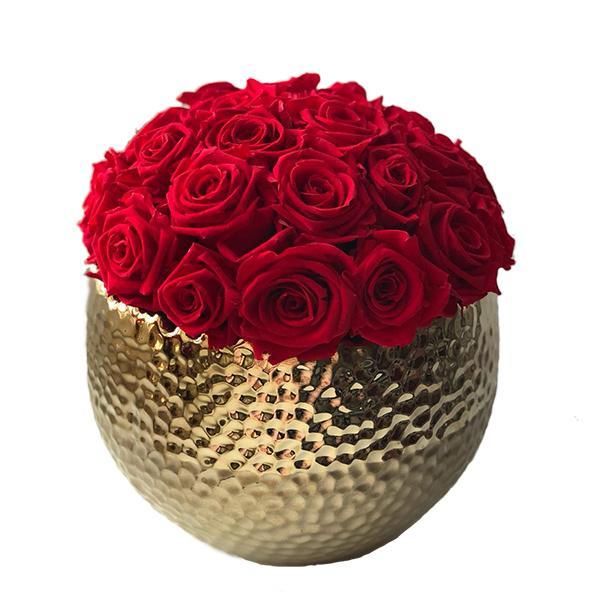 TLK-18 Интерьерная композиция из 29 стабилизированных красных роз