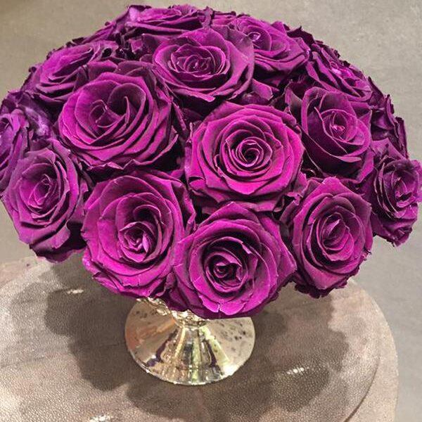TLK-21 Букет из фиолетовых роз премиум