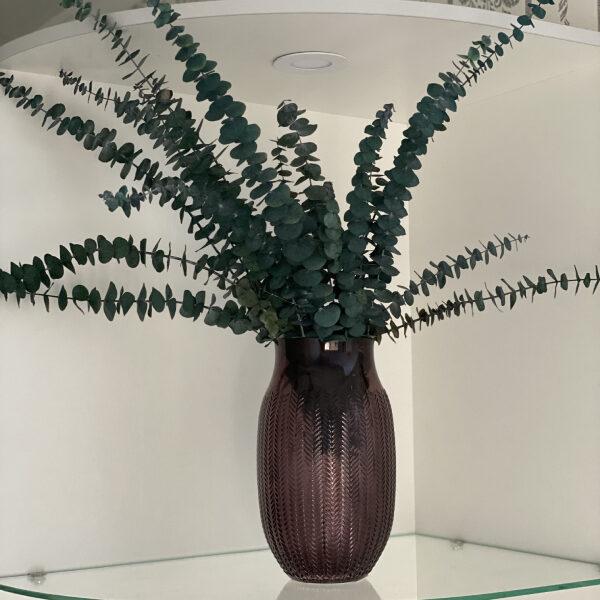 Композиция из стабилизированных веток эвкалипта в вазе