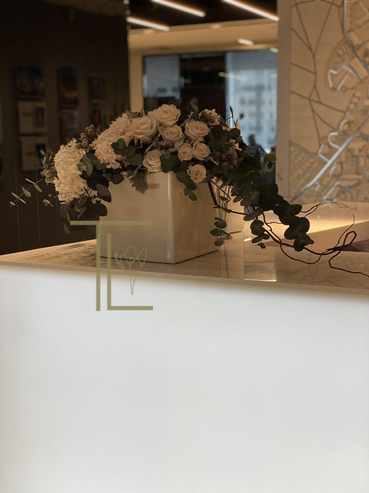 Стабилизированные цветы на ресепшн